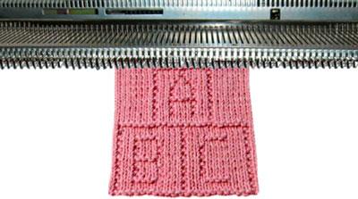 Вязание шарфа на машине бразер 73